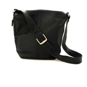 Tignanello Black Leather Shoulder Purse